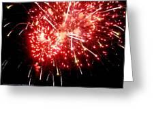 Fireworks Display At Niagara Falls Greeting Card