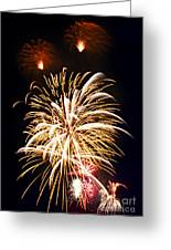 Fireworks Greeting Card by Elena Elisseeva