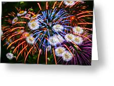 Fireworks Flower Abstract Greeting Card