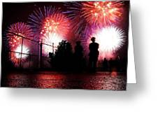Fireworks Greeting Card by Nishanth Gopinathan