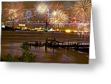 Fireworks On The Ben Greeting Card