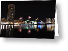 Fireworks Over Downtown Baltimore Greeting Card