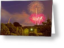 Fireworks Over St Louis Greeting Card