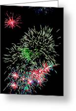 Fireworks Over The Bay Greeting Card