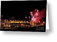 Fireworks Over The Kansas City Plaza Lights Greeting Card