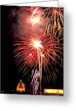 Fireworks Over Washington Dc Greeting Card