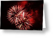 Fireworks Red-white Greeting Card by Katja Zuske
