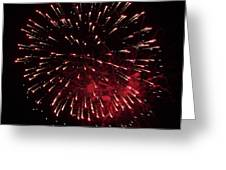 Fireworks Series Ix Greeting Card by Suzanne Gaff
