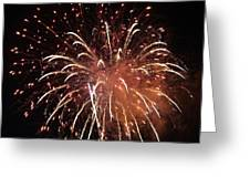 Fireworks Series Xv Greeting Card by Suzanne Gaff