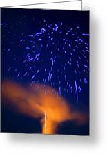 Fireworks Tree Of Life Greeting Card by Kevin Read