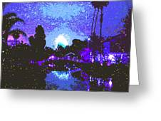 Fireworks Venice California Greeting Card by Jerome Stumphauzer