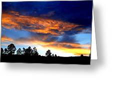 Firey Sunset Of Angel Fire Greeting Card