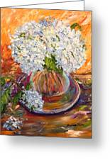 First Bouquet Greeting Card by Barbara Pirkle