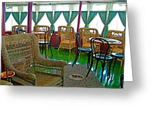 First Class Lounge In S S Klondike On Yukon River In Whitehorse-yt Greeting Card