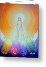 First Creation 4 Emanations Greeting Card