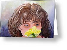 First Daffodil Greeting Card