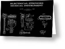 First Electric Guitar 2 Patent Art  1937 Greeting Card