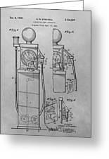 First Gas Pump Patent Drawing Greeting Card