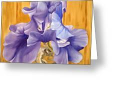 First Iris Of The Season Greeting Card