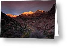 First Light 2 Zion National Park Greeting Card