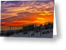 First Light At Cape Cod Beach  Greeting Card