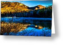 First Light At Pinnacle Lake Greeting Card