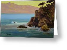 First Light At Point Lobos Greeting Card