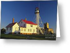 First Light At Whitefish Point Greeting Card
