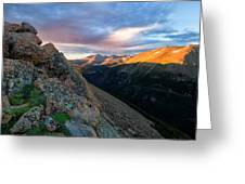 First Light On The Mountain Greeting Card