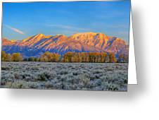 First Light On The Tetons Limited Edition Panorama Greeting Card