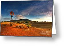 First Light On Wilpena Pound Greeting Card by Bill  Robinson