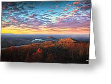 First Light Over The Ocoee River Greeting Card