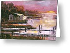 First Light Two Mile Channel Greeting Card