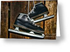 First Pair Of Ice Skates Greeting Card