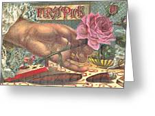 First Pick Cigar Label Greeting Card
