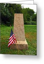 First Shot Monument Gettysburg Greeting Card by James Brunker