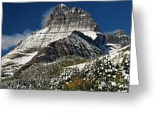 First Snow At Mount Wilbur  Greeting Card