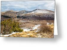 First Snow At Treeline Greeting Card