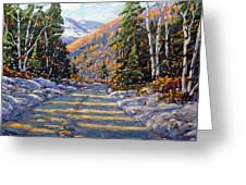 First Snow By Prankearts Greeting Card by Richard T Pranke