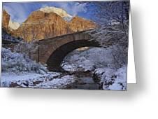 First Snow Pine Creek Greeting Card