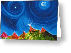 First Star Christmas Wish By Jrr Greeting Card by First Star Art