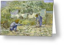 First Steps - After Millet Greeting Card