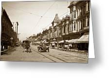First Street Downtown San Jose California Circa 1905 Greeting Card
