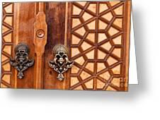 Firuz Aga Mosque Door 01 Greeting Card