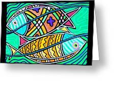 Fish Cousins Greeting Card