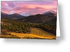Fish Creek Pass Sunset Greeting Card