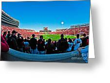 Fish-eye View Of The Jones Stadium Greeting Card