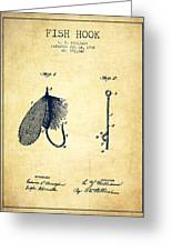 Fish Hook Patent From 1908- Vintage Greeting Card