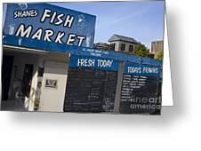 Fish Market In Hobart Greeting Card