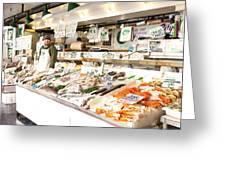 Fish Market Greeting Card